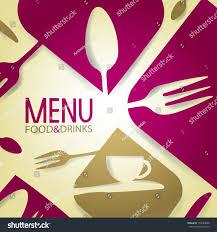 Abstract Menu Design Abstract Restaurant Menu Stock Vector Royalty Free 154099088