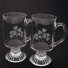 Low warehouse direct prices, immediate pickup or fast delivery and professional advice. Etched Shamrocks Irish Coffee Mugs Set Of 2 Glass Mugs Designed In Ireland Free Us Shipping Robert Emmet Shamrockgift Com