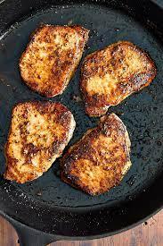 10 minute pan fried boneless pork chops