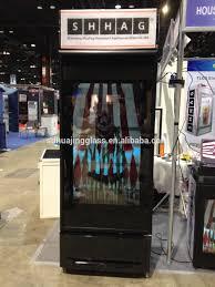 Glass Refrigerator Transparent Lcd Screen Refrigerator Glass Door Video Display