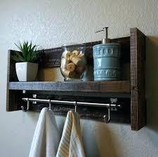 towel rack with hooks. Towel Rack With Hooks For Bathrooms Bath Bars Modern Rustic 3 Tier Bathroom Shelf . O