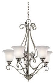 kichler 43224ni camerena small 5 lamp 27 inch diameter chandelier brushed nickel loading zoom
