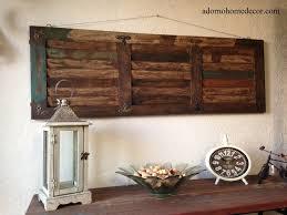 rustic wood iron wall art