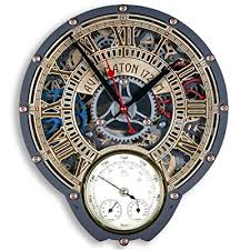 automaton wall clock with weather