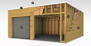 garage en ossature bois à toit plat