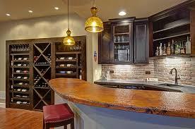 ... Basement Wet Bar and Wine Rack ...