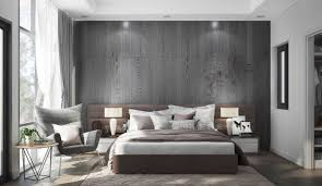 Brown And Grey Bedroom Feature Wall