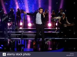 November 2009 Music Charts Singer Robbie Williams Performs During The German Television