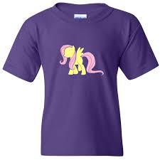 Little Pony Shirt Design Turnto Designs My Little Pony Fluttershy Vinyl Purple Shirt