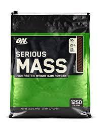 optimum nutrition serious m weight gainer protein powder chocolate 12 pound