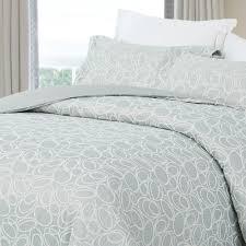natural comfort luxurious cotton duvet cover mini set king size in light blue