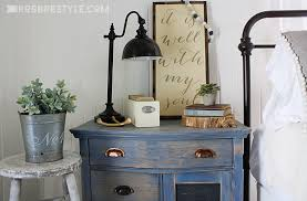 bedroom sideboard furniture. DIY Color Stain Project: Bedroom Sideboard In Vintage Denim Blue By RobbRestyle.com Furniture