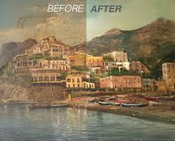 before after riviera landscape dirty painting