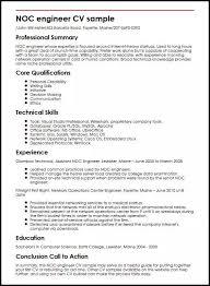 Technical Skills Cv Noc Engineer Cv Sample Myperfectcv