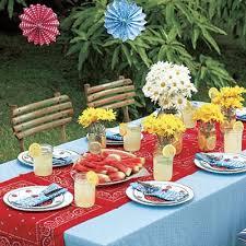 Amazing of Backyard Bbq Decoration Ideas Summer Picnic Decorating Ideas  Picnic Table With Decorations