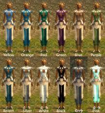 Prenerf Monk Obsidian Dye Chart Guildwars