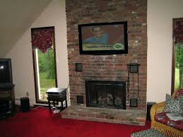 smlf install tv stone fireplace mount on above wood burning putting