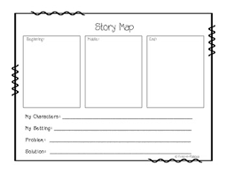 Story Map Template Template Story Map By Third A Palooza Teachers Pay Teachers