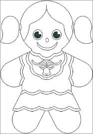 Gingerbread Coloring Sheets Gingerbread Girl Coloring Page