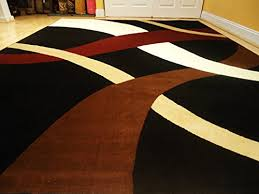 cream and brown area rug new modern black 811 rug black wavy 810 carpet contemporary rugs