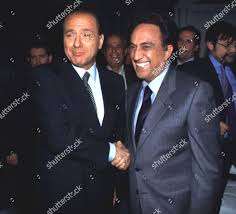 Silvio Berlusconi Emilio Fede Editorial Stock Photo - Stock Image
