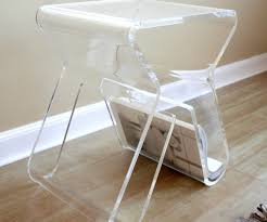 martini side table examplary sale lucite waterfall coffee table from cb2  square . martini side table ...