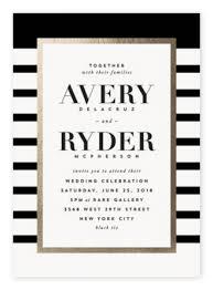 Black And White Invitation Paper Top 10 Most Glamorous Black White Striped Wedding Invitations