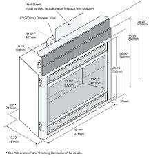gas fireplace dimensions standard dimensions standard gas fireplace insert size gas fireplace dimensions