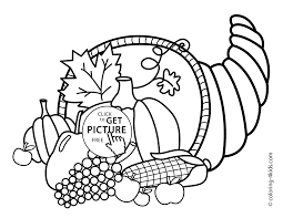 Small Picture Thanksgiving day coloring pages for kids vegetables printable