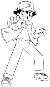 Spectacular Inspiration Pokemon Coloring Pages Ash Ketchu And Ash