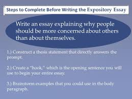 writing an expository essay ppt  steps to complete before writing the expository essay