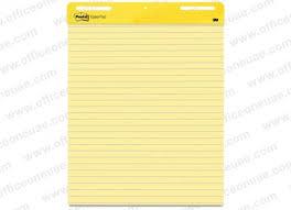3m Post It Flip Chart 3m Post It Self Stick Easel Pad 561 25 X 30 Inches Line Ruled 30