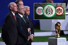 Resultado de imagen para Estados Unidos, México y Canadá organizarán el Mundial de Fútbol 2026