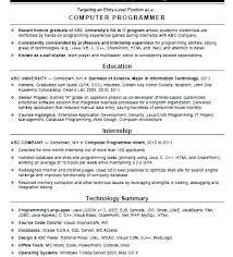 Java Programmer Resume Programmer Resume Computer Sample Template