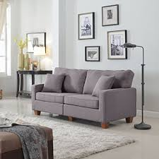 73 inch sofa. Plain Inch Divano Roma Furniture 73 U2013 Inch Love Seat Linen Fabric Sofa Light Grey By  Throughout Sofa W