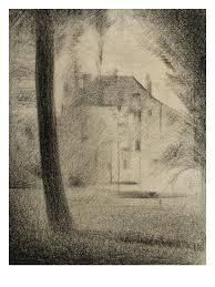 Le Tronc Du0027arbre Et La MaisonBy Georges Seurat
