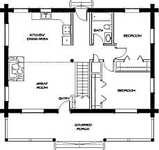 Small cabin floor plans with vaulted ceilings and efficiently arranged  interior spaces have a look and feel that make them seem much larger than  they ...