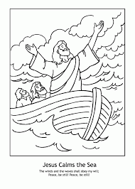 Small Picture jesus stills the coloring page 100 images jesus calms the word