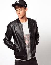 faux leather er jacket