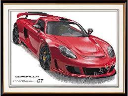 Porsche Model Chart Amazon Com Happy Forever Cross Stitch Cartoon Car The Porsche