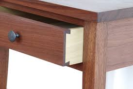 shaker hall table. Shaker Walnut Night Table - Detail Of Dovetailed Drawer Hall I