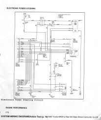 toyota mr power steering system circuit diagram 1