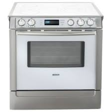 white electric range. BOSCH HEI7032U Slide-In Electric Range White With Stainless Steel Trim R