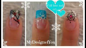 Nail Designs Pictures French Tip 3 Winter French Tip Nail Designs Winter Nail Art Ideas 3 Diseños De Uñas Invierno Facil
