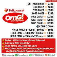 Ini merupakan paket kuota nonton yang cukup lengkap. Jual Paket Internet Paket Data Telkomsel Simpati As Loop Omg Combo 19gb Jakarta Barat Besell Tokopedia