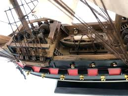 pirate ship model wooden black prince white sails limited model pirate ship woodcraft kits model pirate