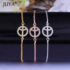 2019 simple small peace sign bracelet femme silver gold rose gold adjustable chain copper cz crystal bracelets for women accessories from trevorariza