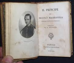 1825 IL PRINCIPE Book NICCOLO MACHIAVELLI Leather THE PRINCE Near Miniature  AEG