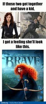 brave-pixar-meme-avengers-black-widow-hawkeye-have-a-kid-together.jpg via Relatably.com