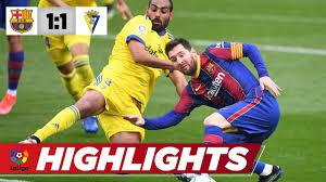 Messi trifft per Rückpass-Elfer | Barcelona – Cadiz 1:1 | La Liga